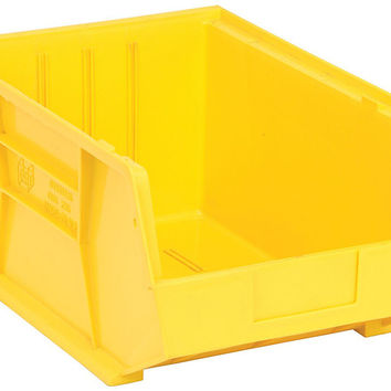 Quantum Storage Systems QUS255 Ultra Stack And Hang Bin Yellow - Pack of 4