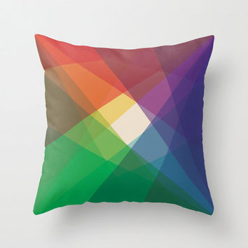 "16""x16"" Colorful Geometric Throw Pillow COVER ONLY"