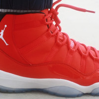 AIR JORDAN 11 (ALL RED PE) BASKETBALL SNEAKER FOR WOMEN & MEN AJ11
