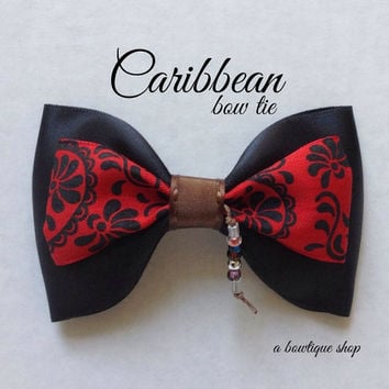 caribbean clip on bow tie