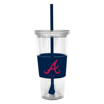 Lidded Cup with Straw MLB Braves by Boelter Brands