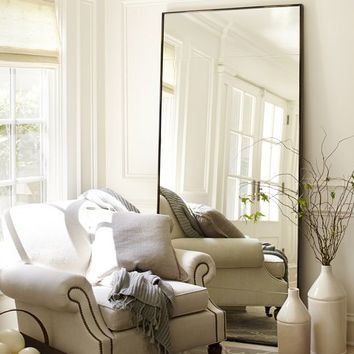 Oversized Leaning Floor Mirror | Pottery Barn
