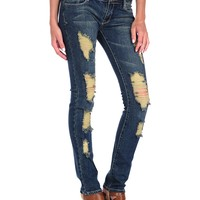 Butter Medium Wash Ripped Skinny