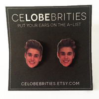 Justin Bieber Mugshot Earrings
