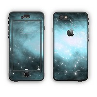 The Bright Blue Vivid Galaxy Apple iPhone 6 Plus LifeProof Nuud Case Skin Set