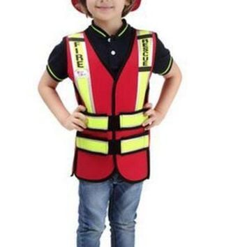 DCCKH6B High quality Cosplay Halloween party game costume for children fireman Traffic police costumes Boys Pilot garment Sailor uniform