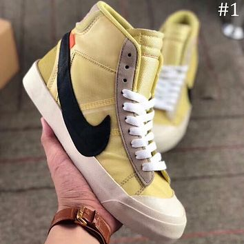 OFF-WHITE x NIKE BLAZER MID OW Joint name pioneer breathable high top shoes F-AA-SDDSL-KHZHXMKH #1