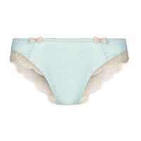 Kelly Brook Turquoise Lace Overlay Brazillian Briefs