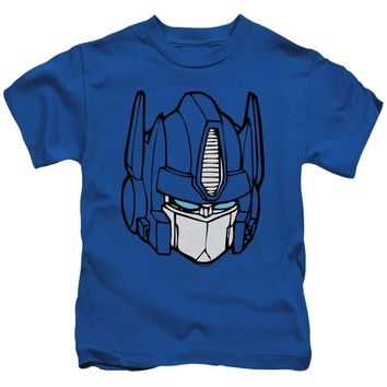 Transformers Boys T-Shirt Optimus Prime Face Royal Tee