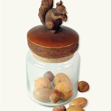 Forest Friends Glass Container (Squirrel) - Squirrel Candy Jar