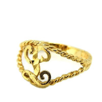 Child's 10k Gold Ring Initial L Letter L Pinky Ring