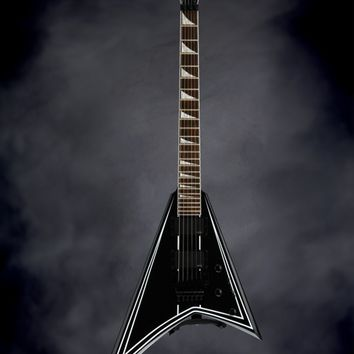 Jackson RRXMG Rhoads - Black with White Pinstripe