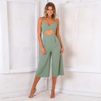 Fashion Sexy Spaghetti Strap Zipper Backless Sexy Jumpsuits New Casual Ladies Summer Jumpsuit Women Rompers MLD777