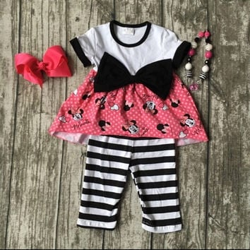 Minnie Mouse Bows and Stripes Outfit