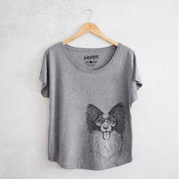 Patrick the Papillon - Women's Dolman Shirt