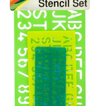 Numbers & Letters Stencil Set ( Case of 12 )