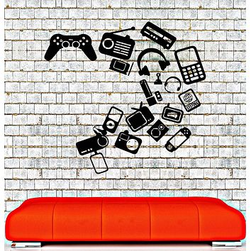 Vinyl Wall Decal Gadgets Video Games Joystick Playroom Teen Room Stickers Unique Gift (012ig)