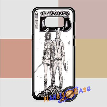 Walking Dead (michonne comics bw) Samsung Galaxy Case