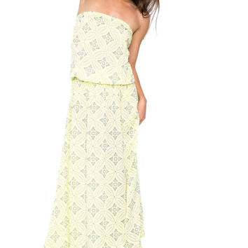 Cool Change || Bianca bloussant maxi dress in butter/dusk