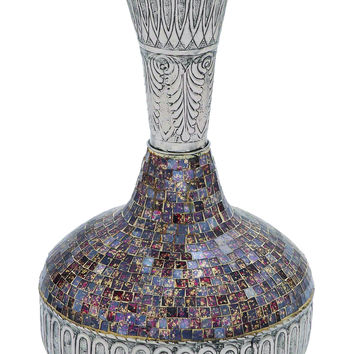 Barcelona Beautifully Carved Mosaic Vase Design