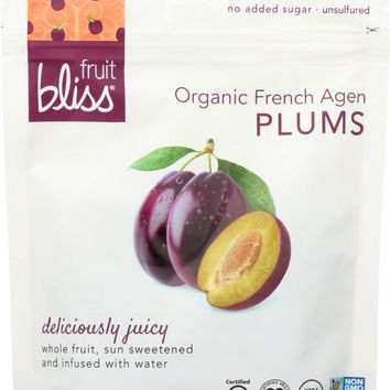 FRUIT BLISS: Organic French Agen Plums, 5 oz