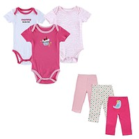 Baby Clothing Sets Summer Outfits Baby's Sets Print Baby Romper Pants Lovely Boy Girl Baby Clothes