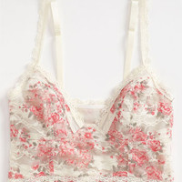 Free People 'Tea Party' Print Lace Bralette   Nordstrom