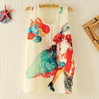 Vest Top with Ballon Lovers