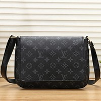 Louis Vuitton LV  Women Leather Zipper Shoulder Bag Handbag Crossbody