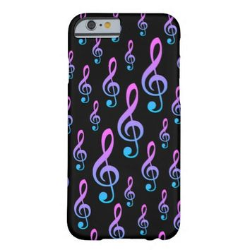 Treble Clef Musical Notation Symbol Pattern Barely There iPhone 6 Case
