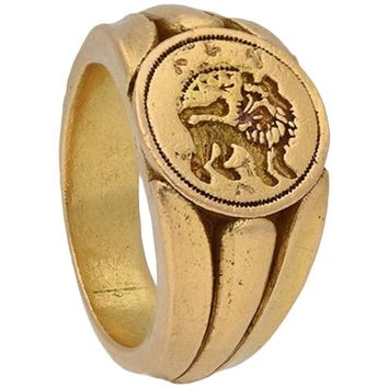 Medieval Signet Ring with Lion, circa 15th Century