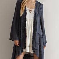 Multi Tiered Cardigan - Charcoal