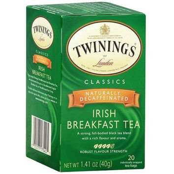 Twinings of London: Irish Breakfast Naturall Decaffeinated Tea Bags, 6 Pk (Pack of 6) - Walmart.com
