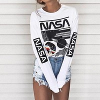 DCCKHI2 NASA Printed Long-Sleeved Sweater Tagre-