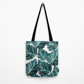 Jungle Leaves Tote Bag by CRYSTAL WALEN