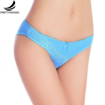 Prettywowgo Lace Panties Cotton Women Underwear Lady Underpants Lingerie 6970