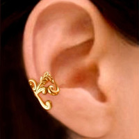 Empire GOLD ear cuff earrings jewelry - Right earcuff for men and women 111012