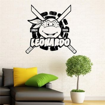 Wall Sticker Ninja Turtles Wall Decal Tmnt Vinyl Sticker American Comic Book Graphics Home Interior Children Room Decor X151