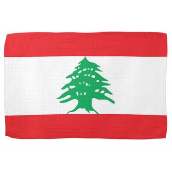 Kitchen towel with Flag of Lebanon