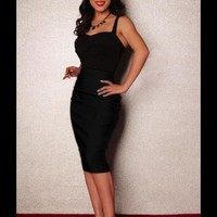 Perfect Pencil Skirt in Black | Pinup Girl Clothing