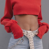 CHUNKY KNIT CHERRY RED | Orseund Iris
