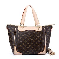 LV Louis Vuitton Women Fashion Leather Tote Satchel Shoulder Bag Handbag