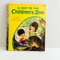 A Visit To The Children's Zoo - Vintage Little Golden Book - 1969