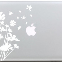 White dandelion Mac Book Mac Book Air Mac Book Pro Mac Sticker Mac Decal Apple Decal Mac Decals