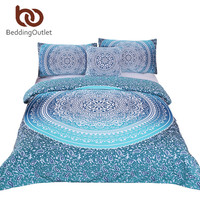 BeddingOutlet Luxury Boho Bedding Set Crystal Arrays Duvet Cover Set Super Soft Quilt Cover Bohemian Bedclothes 4 Pieces Hot