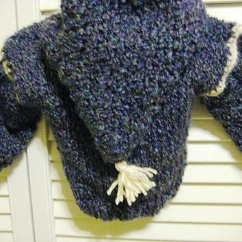 Hand Knit Baby Sweater Hoodie by LittleGirlCreations on Etsy