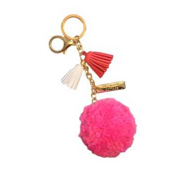 LOVELY TASSEL POM POM BAG CHARM