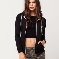 FULL TILT Essential Solid Womens Zip Hoodie