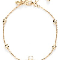 Women's kate spade new york 'central park pansy' station bracelet