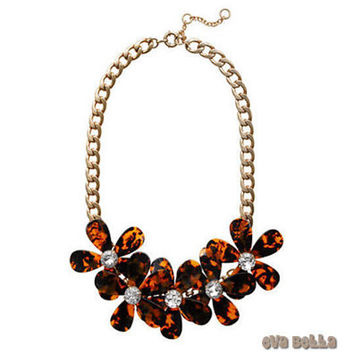 Flowers in Bloom ..Our Tortoise Shell color Necklace..get the matching Bracelet too..